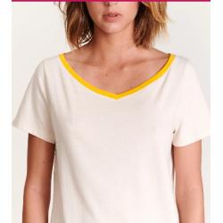 Tshirt Aye Jaune/crème...