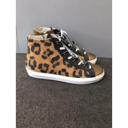 Baskets léopard Leather Crown