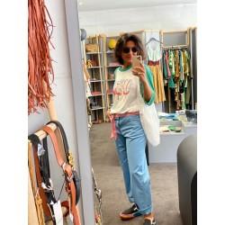 Pantalon bleu coton Hod Paris