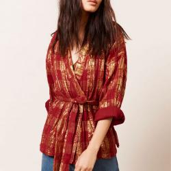Kimono framboise et doré...