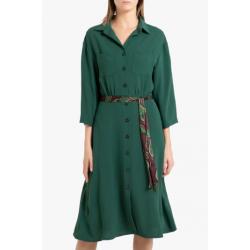 Robe chemise Toupy verte