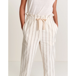Pantalon rayé Coton/Lin