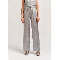 Pantalon en jacquard gris à...
