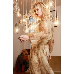 Robe longue lurex Toupy