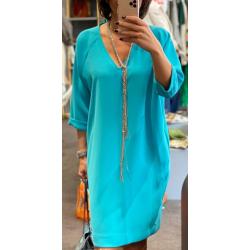 Robe Drew Toupy bleu turquoise